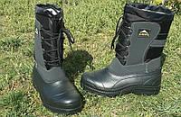 Теплые, не промокаемые зимние ботинки из EVA пены на осень зиму р.41-46 теплющие Аляска Нато взрослым и детям