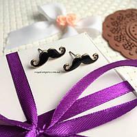"""Серьги """"Усы"""", в подарочной упаковке."""