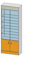 2-х Стороння вітрина (800х350х2184мм) ДСП