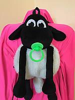 М'ягка декоративна вовняна іграшка-рюкзак Баранчик Шон, фото 1