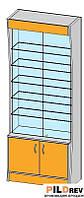 Прямая витрина (800х400х2184мм) ДСП
