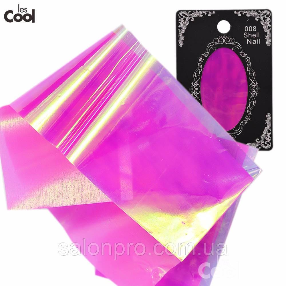 Фольга для ногтей, битое стекло № 09, ширина 5 см, цвет сиренево-фиолетовый хамелеон