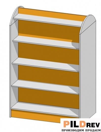 Стеллаж островной для аптеки (1032х600х1500мм)