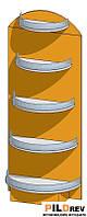Приставка торцева для аптеки (600х316х1500мм)