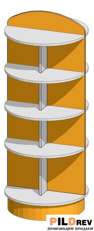 Стеллаж островной для аптеки (700х700х1500мм)