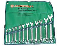 Ключи плоско-кольцевые, комплект 12шт. супер-tech, w84112s Jonnesway