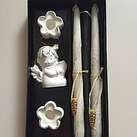 Комплект свадебных свечей, 2.2*29 см, парафиновые.