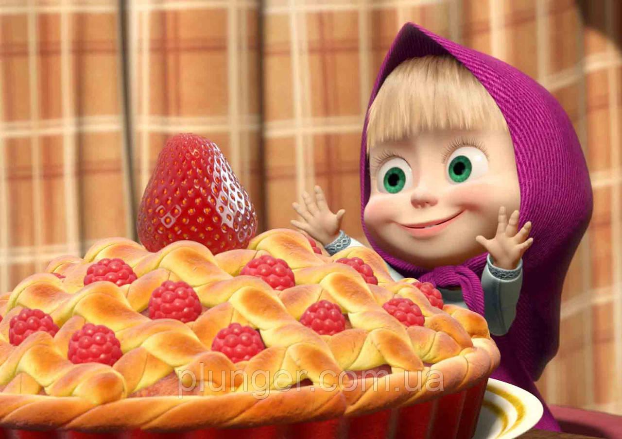 """Вафельная картинка для торта """"Маша и Медведь"""", (лист А4), толщина 0,3 мм"""