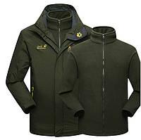 Стильная мужская куртка 2 в 1 JACK WOLFSKIN. Высокое качество. Практичный дизайн. Удобная куртка. Код: КДН1094