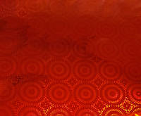 Пленка подарочная упаковочная голограмма Красная с рисунком Полисилк 20 шт/уп