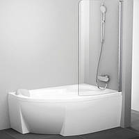 Шторка для ванны Ravak 85 см CVSK1 ROSA 140/150 R белый+transparent 7QRM0100Y1