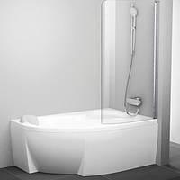 Шторка для ванны Ravak 100 см CVSK1 ROSA 160/170 R белый+transparent 7QRS0100Y1