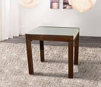 Стол обеденный деревянный Слайдер орех/крем