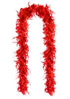Перья декоративные Боа Красный 2 м 30-45 грамм