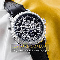Кварцевые часы Patek Philippe Sky Moon silver black (05901)