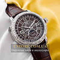 Кварцевые часы Patek Philippe Sky Moon silver brown (05903)