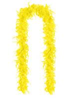 Перья декоративные Боа Желтые 2 м 30-45 грамм