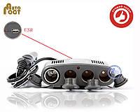 Разветвитель автомобильного прикуривателя БЕЛАВТО РП13 на 4 гнезда с USB