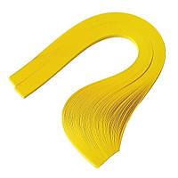 Папір для квілінгу (смужки) 3 мм, 160 г/м2, 100 шт. жовтий яскравий