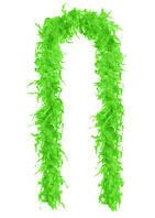 Перья декоративные Боа Салатовые 2 м 30-45 грамм