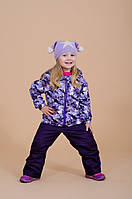 Демисезонные брюки на флисе на девочку 3-9 лет (92-134, мембранная ткань) ТМ Be easy Серый 134
