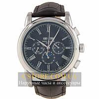Часы Patek Philippe Grand Complications Perpetual Calendar Black Silver (06355)