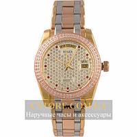 Механические Часы Rolex Oyster Perpetual Day Date siver gold (06369)