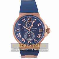 Часы Ulysse Nardin Maxi Marine Chronometer Blue Gold (06385)
