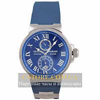 Часы Ulysse Nardin Maxi Marine Chronometer Rich Blue Silver (06388)