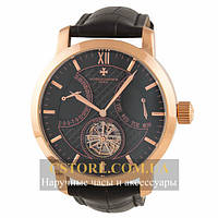 Механические Часы Vacheron Constantin Gold Black Tourbillon (06394)