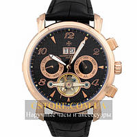 Мужские наручные Vacheron Constantin geneve tourbillon gold black (06398)
