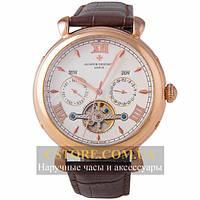 Мужские наручные часы Vacheron Constantin tourbillon white gold (06399)
