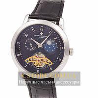 Мужские наручные механические часы Vacheron Constantin silver black (06396)