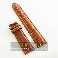 Кожаный ремешок для часов Vacheron Constantin brown 22 мм (06414)