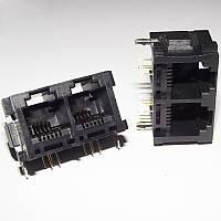 Розетки YH-52-51 2x6P4C 5225 сдвоенные