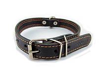 Ошейник для собак COLLAR со светоотражающей лентой 20мм/ 40см чёрный