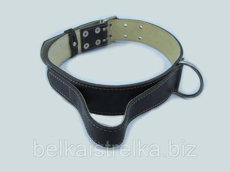 Ошейник для собак COLLAR двойной с ручкой ширина 45мм, длина 56-68см, 02991 черный