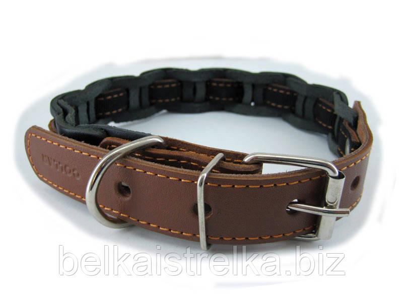 Ошейник для собак COLLAR одинарный наборной 25мм/ 50см коричневый 20516