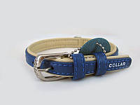 Ошейник COLLAR brilliance без украшений, ширина 15мм, длина 27-36см, 387312, синий