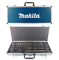 Набор сверл sds + зубила 10шт + чемодан Makita