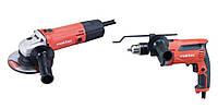 Набор инструментов: дрель ударная 710 Вт mt814 + угловая шлифовальная машина 125 мм 570 Вт mt963 + чемодан Maktec Makita