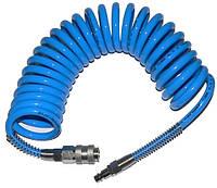 Шланг пневматический спиральный ADLER 8 х 12 мм полиуретановый 5м, с разъемами