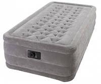 Надувная кровать Intex 67952 Насос  встроенный 220В (102х203х46см)