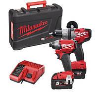 Набор инструментов дрель -шуруповерт m18 cpd + шуруповерт m18 cid 2 x 5,0 red li-ion m18pp2a-502c Milwaukee