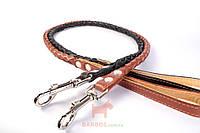 Поводок для собак круглое плетение со вставкой внутри (ш 16 мм, д 122 см) (Коллар) Collar (коричневый)