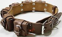Ошейник для собак с утяжелителями, №1 5 x 400 г (ш 45 мм) (Коллар) Collar (коричневый)