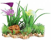 Растение пластиковое на каменной подложке 13 см (Трикси) Trixie