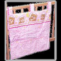 """Карман (приборник) для детской кроватки """"Мишка в круге"""", 60х65 см, 100% хлопок"""