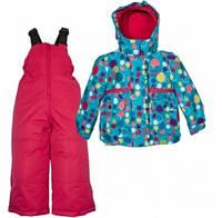 Комплект зимний , куртка и комбинезон Gusti 4873 ZWG, цвет голубой/фуксия