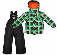 Комплект зимний , куртка и комбинезон Gusti 4783 XWB, цвет черный/зеленый